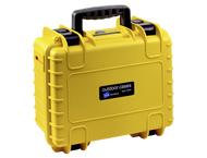 BW Outdoor CaseType 3000/Y geel met GoPro 4 Inlay