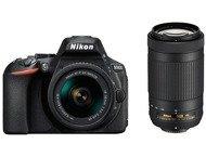 Nikon D5600 Boîtier + 18-55mm + 70-300mm - Noir