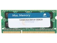 Corsair DDR3 1333MHz 4GB 1x204 SODIMM 1.5V Apple Qualified