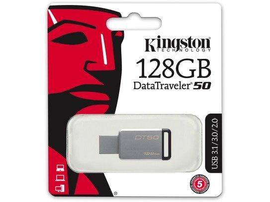 Kingston 128GB USB 3.0 DataTraveler 50 (Metal/Black)