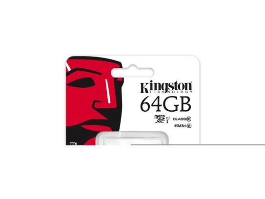 Kingston 64GB microSDXC Class 10 UHS-I 45R FlashCard Single