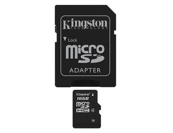 Kingston SDC4/16GBSP MEM SD 16GB MICRO SECURE DIGITAL
