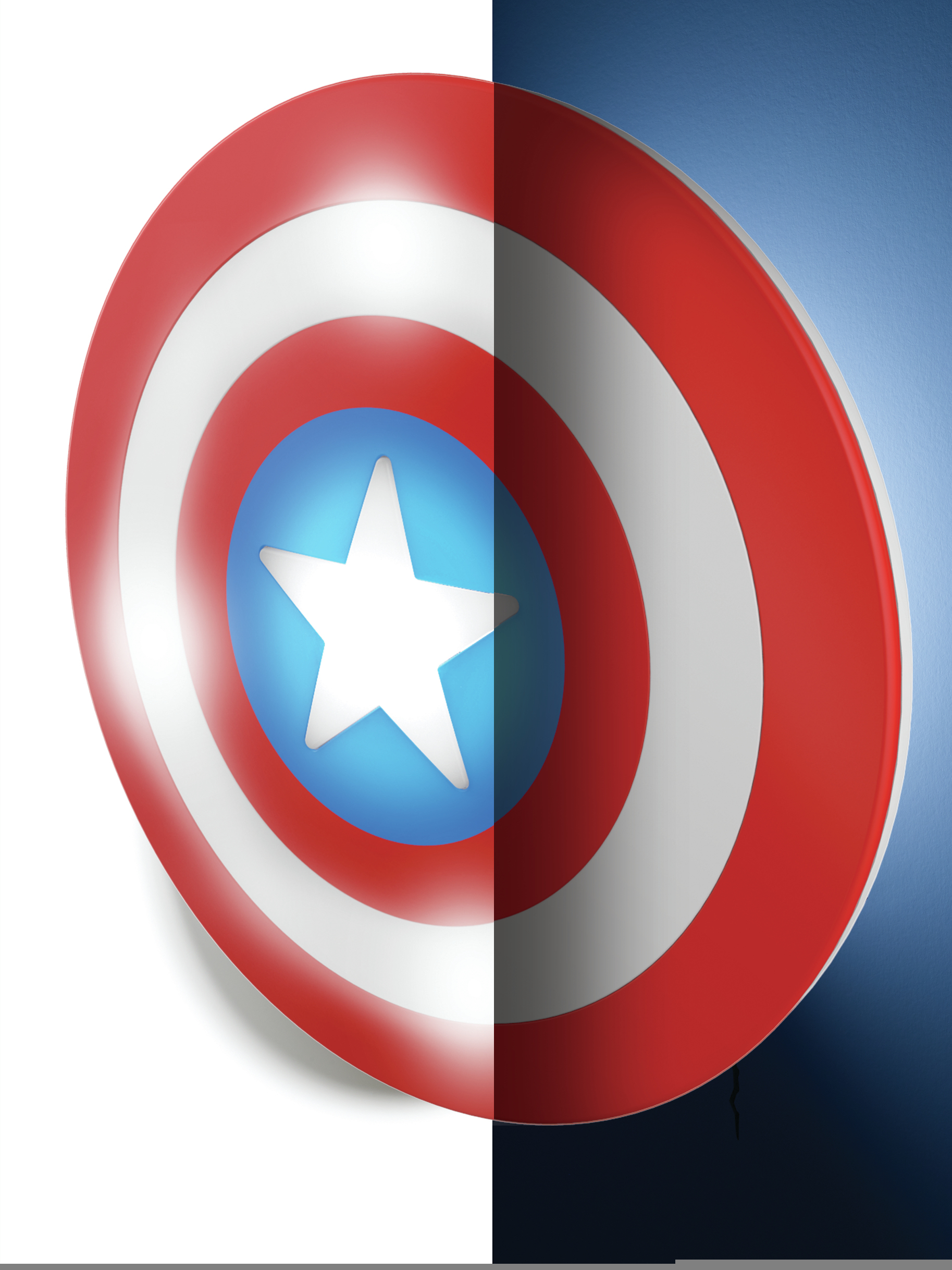 Marvel America 3d Lampe Led Philips Murale Captain EH9W2DIY