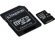 Kingston 64gb microsdxc class 10 uhs-i 45mb/s read card + sd