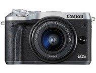 Canon EOS M6 Body + 15-45mm - Zilver