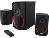 Hama 2.1-sound-system PR-2180, zwart/rood
