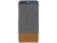 Huawei cover - licht grijs/bruin leder - voor P10