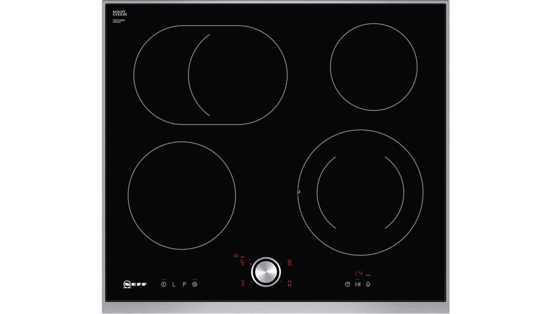 neff t16tt76n0 kookplaat highspeed vitrokeramisch 60cm art craft. Black Bedroom Furniture Sets. Home Design Ideas