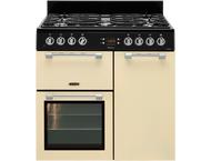 Leisure CK90F322C Fornuis gemengd gas/elektrische oven Cream