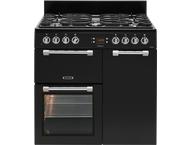 Leisure CK90F322K Fornuis gemengd gas/elektrische oven Zwart