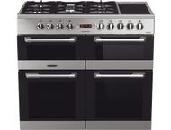 Leisure CS100F720X Fornuis gemengd gas/elektrische oven Inox