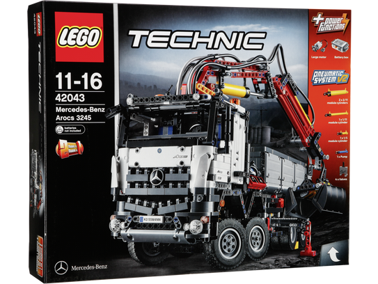 lego technic 42043 mercedes benz arocs 3245 art craft. Black Bedroom Furniture Sets. Home Design Ideas