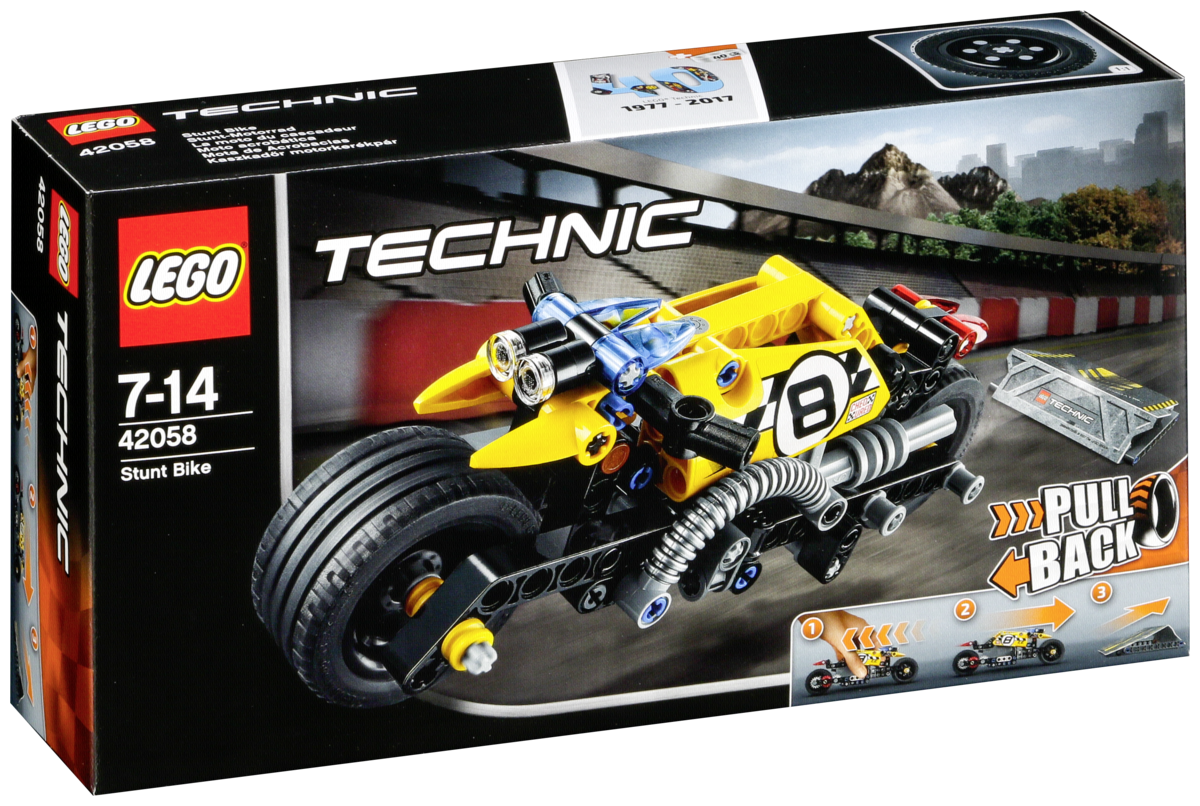 lego technic 42058 stuntmotor art craft. Black Bedroom Furniture Sets. Home Design Ideas