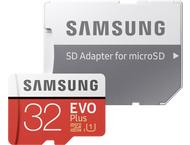 Samsung microSDHC EVO+ 32GB met adapter MB-MC32GA/EU