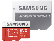Samsung microSDXC EVO+ 128GB met adapter MB-MC128GA/EU