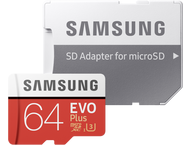 Samsung microSDXC EVO+ 64GB met adapter MB-MC64GA/EU
