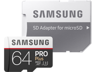 Samsung microSDXC PRO+ 64GB met adapter MB-MD64GA/EU