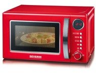 Severin MW7893 Retro Microwave with grill 700W red/chrome