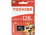 Toshiba MircoSD Exceria M302 red - 128GB with adaptor