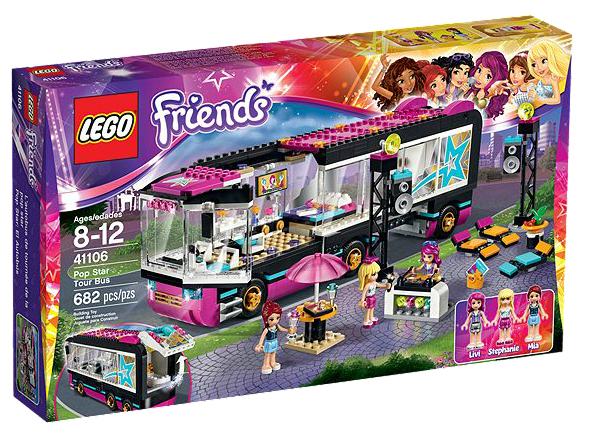 Lego friends popster toerbus art craft