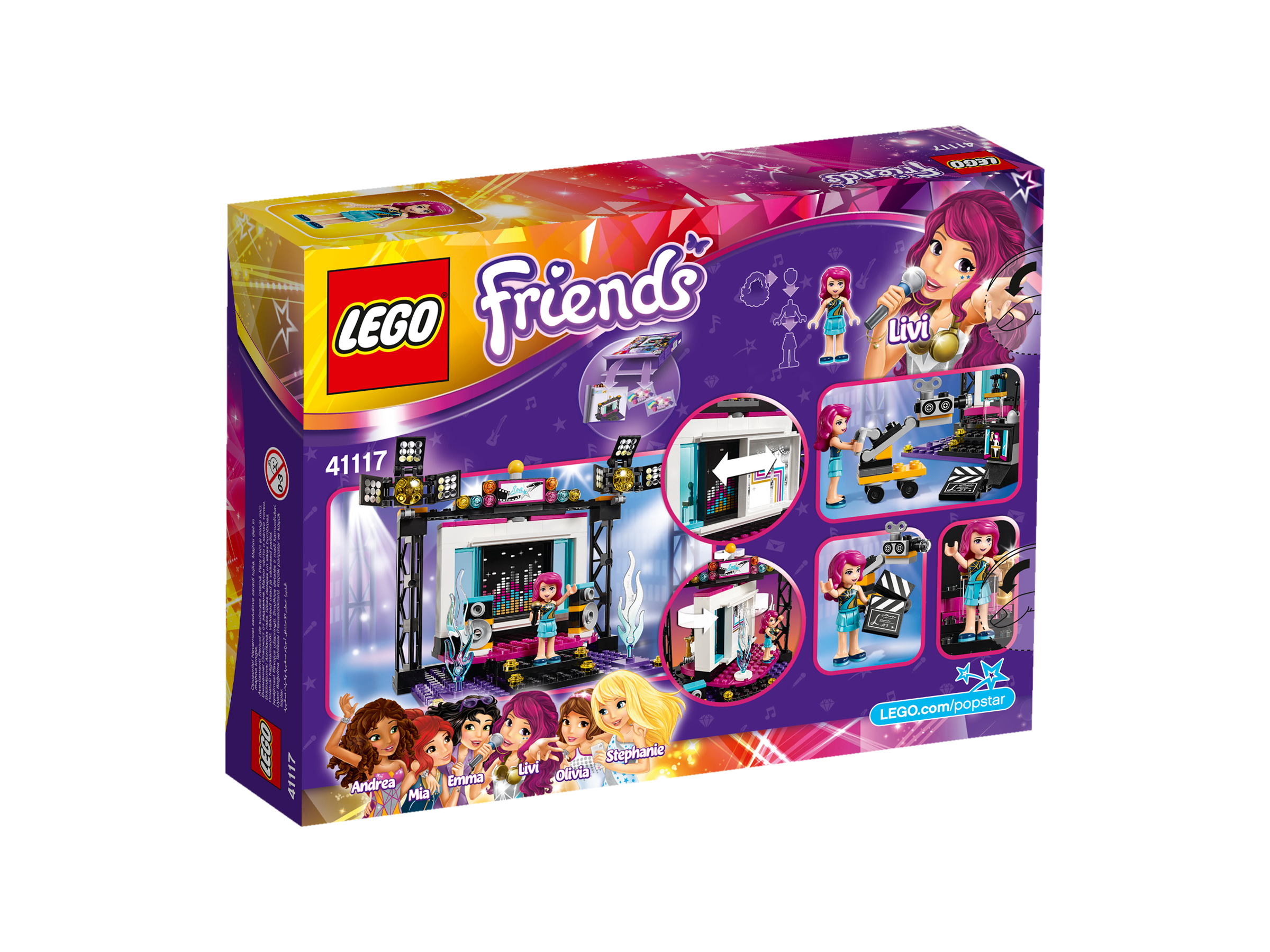 Lego friends popster tv studio art craft
