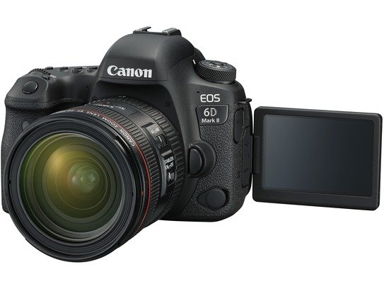 EOS 6D Mark II Left LCD Open EF24-70mm F4L USM FSL