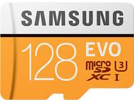Samsung Evo 128 GB micro SD class 10 - adapter R100MBs/W90