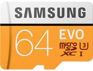 Samsung Evo 64 GB micro SD class 10 - adapter R100MBs/W60