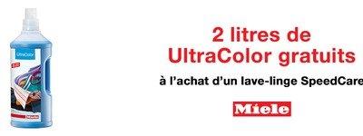 Miele - lessive Ultracolor gratuit