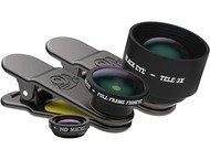 Black Eye Pro KIT, Telex3, Fish Eye  HD Macro + Travel Case