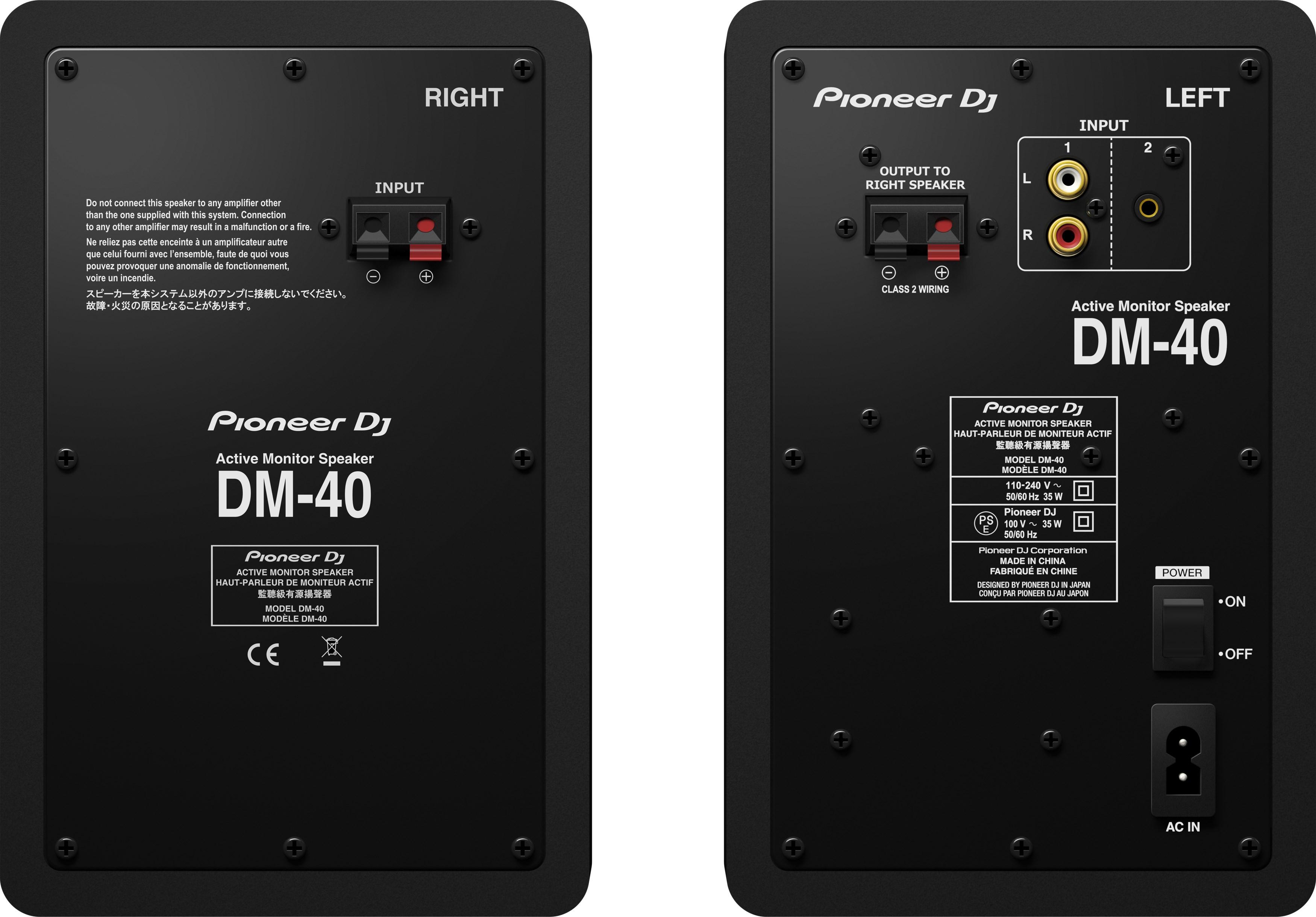 Astonishing Pioneer Dj 4 Monitor Speakers Pair Dm 40 Art Craft Wiring Digital Resources Bemuashebarightsorg
