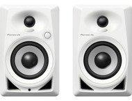 Pioneer DJ 4 White Monitor Speakers Pair DM-40-W