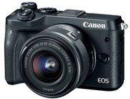 Canon EOS M6 Body + 15-45mm + 55-200mm - Zwart