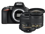 Nikon D5600 Boîtier + 40mm + 10-20mm - Noir