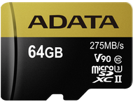 Adata Micro SDXC UHS-II CL10 U3 64GB V90 Std
