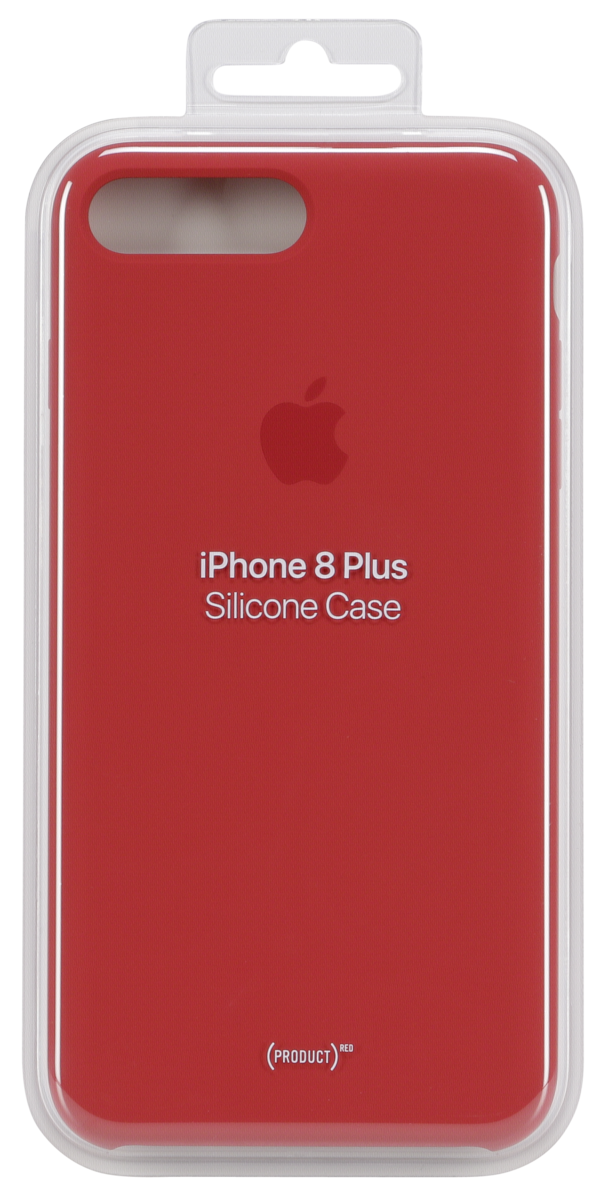 36928257ebdea Apple iPhone 8 Plus/7 Plus Silic Case Red | Art & Craft