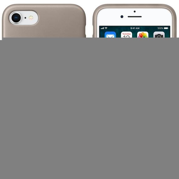 innovative design 6f935 e93e1 Apple iPhone 8/7 Leather Case - Taupe