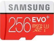 Samsung Evo + 256 GB micro SD class 10 - met adapter R100MBs
