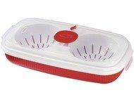 Xavax Microgolf omeletmaker 0.75L rood/wit