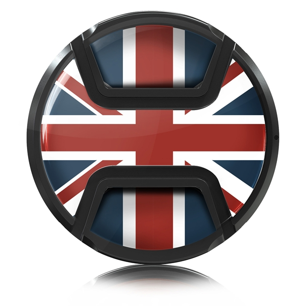 Kaiser Style Snap On Lens Cap Style Union Jack 55 Mm Art Craft