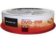 Sony DVD+RW 4X Spindle 25pcs