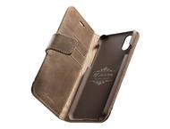 Cellular Line iPhone X, hoesje premium leer, bruin