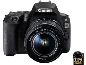 Canon EOS 200D Body + 18-135mm - Zwart