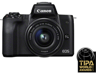 Canon EOS M50 Body + 15-45mm - Zwart