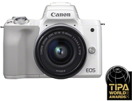 Canon EOS M50 Body + 15-45mm - Wit