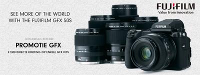 Fujifilm - €1300 korting op de GFX
