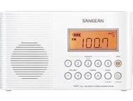 Sangean H-201, draagbare waterproof radio, wit