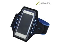 Smartphone Armband Active LED Blue L