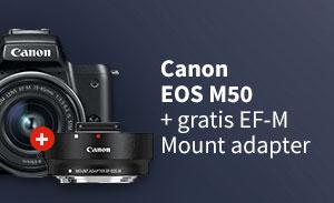 Augustus 2018: Canon M50 actie