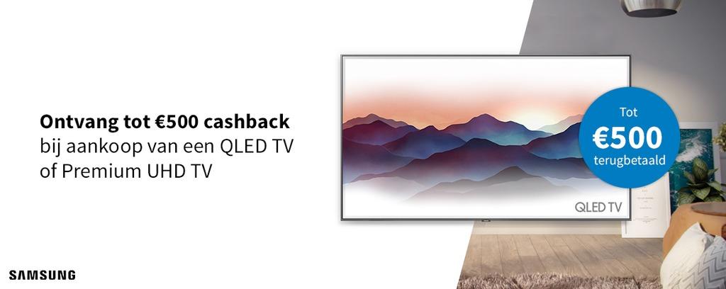 Samsung - Tot €500 cashback op TVs